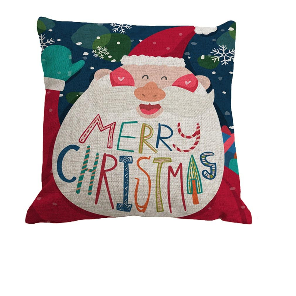 Nunubee Square Christmas Pillowcase Throw Pillow Case Home Decor Sofs Cushion Cover Pattern A 7005P0195