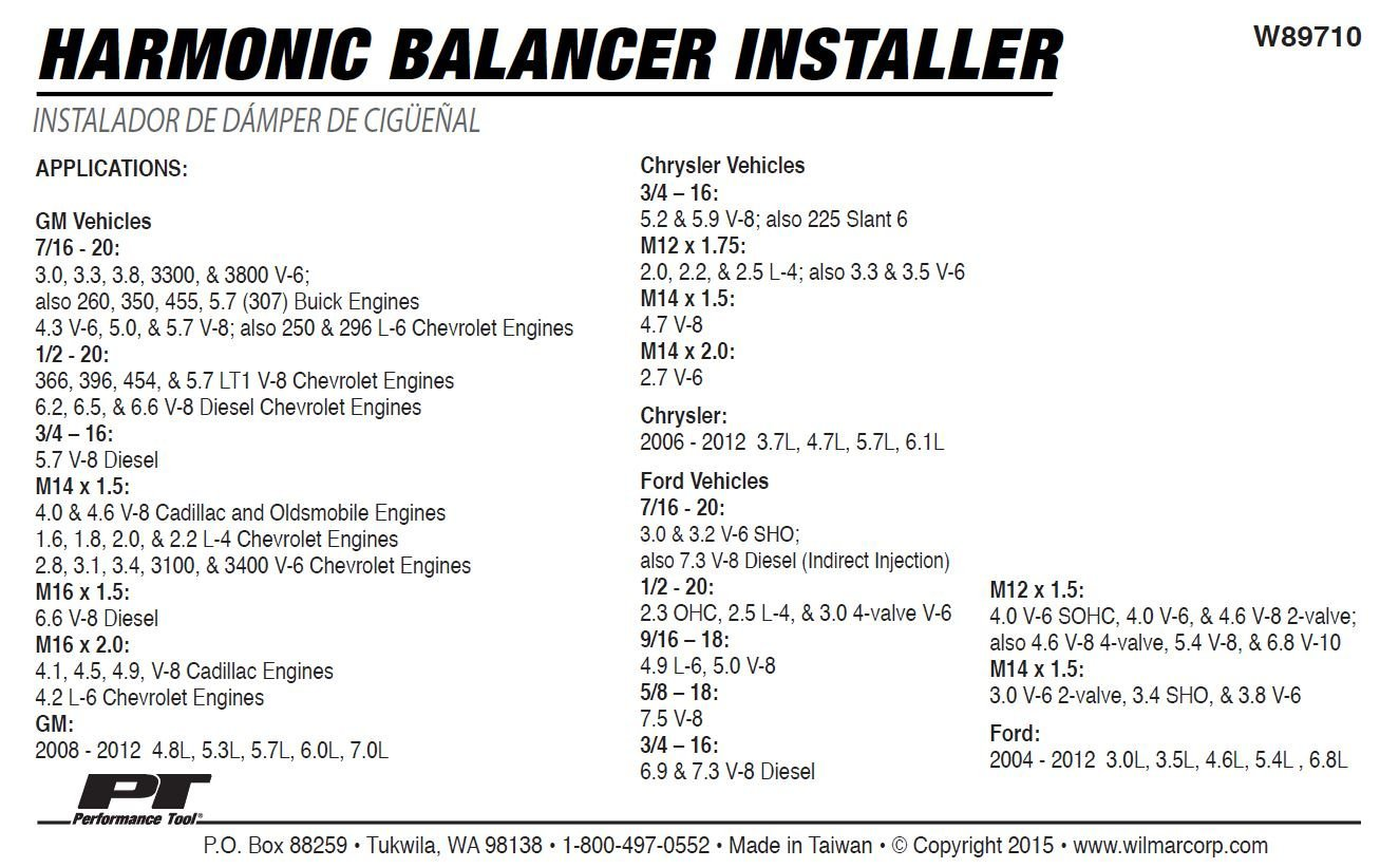 Performance Tool W89710 Harmonic Balancer Installer by Performance Tool (Image #3)