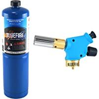 BLUEFIRE Handy Cyclone Torch Kit with Propane,Push Button Trigger Start Nozzle Head,Fuel by Propane MAPP MAP PRO Gas,CSA Certified.Welding,Soldering,Brazing,Cooking,Glass Beads DIY (Kit with Propane)