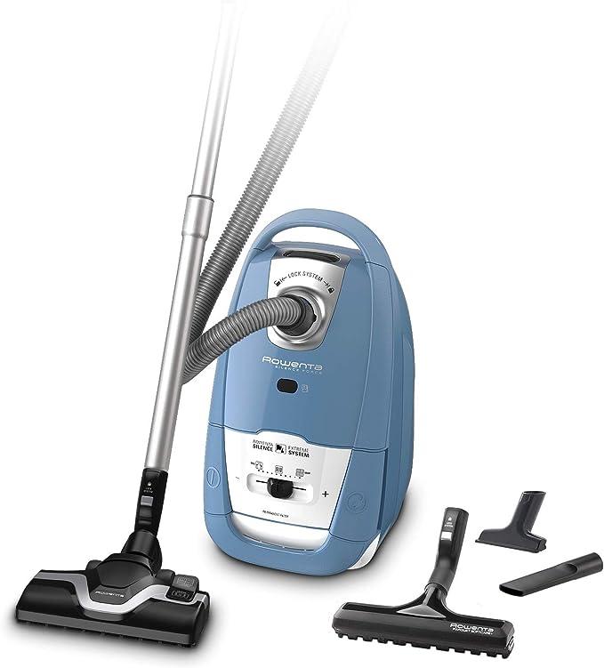 Rowenta Silence Force RO7321 Aspiradora con bolsa, eficiente en succión y reemisión de polvo, tecnología silenciosa, depósito 4,5 l, adecuado parquet, accesorios tapicerías y ranuras, cable 6,2 m: Amazon.es: Hogar
