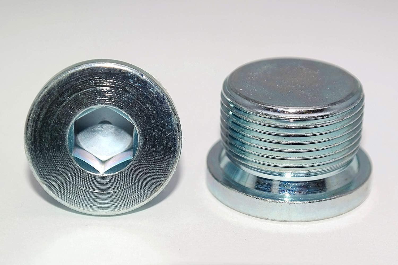 Verschlussschrauben mit Zollgewinde DIN 908 Stahl galv verzinkt Blindstopfen in Verzinktem Stahl 1 St/ück G1