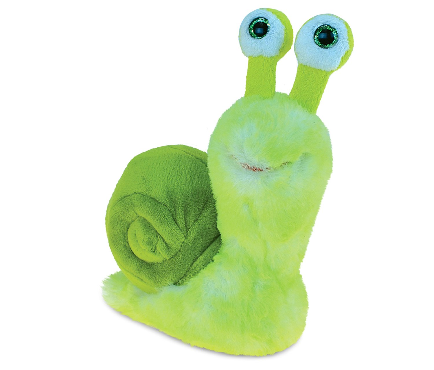 Puzzled Green Snail Unique Supersoft Stuffed Animal Cuddly Plush Toy - Bestfriend Insect 5.5 Inches Squishy Bed And Cars Plushie Pillow Toys For Baby Toddler Kids - Item 5334