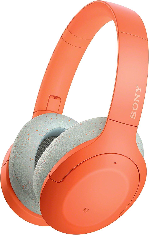Sony WH-H910N - Auriculares inalámbricos (Bluetooth, Cancelación de Ruido, LDAC, hasta 35h de batería, Hi-Res Audio, h.Ear on, Sonido adaptativo, tecnología de Sensor de Ruido Dual, DSEE HX) Naranja