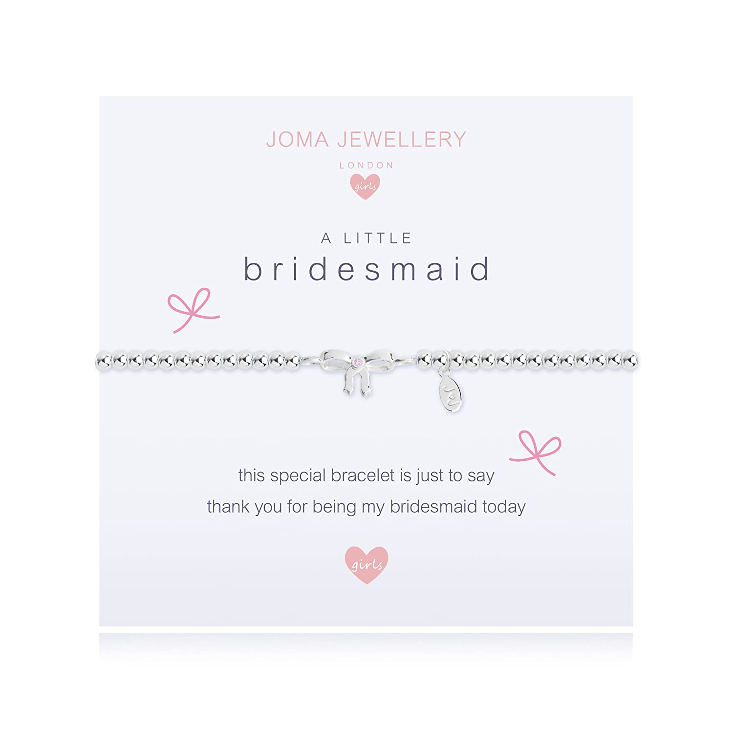 Joma Jewellery Childrens a little Bridesmaid bracelet C403