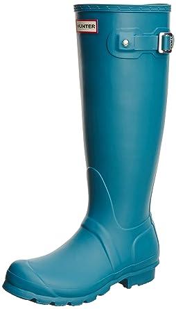 Hunter W Original Tall Rain Boots Bright Peacock Womens 8