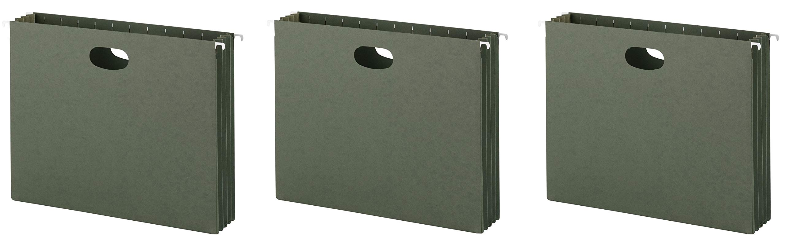 Smead Hanging File Pockets, 3-1/2 Inch Expansion, Letter Size, Standard Green, 10 Per Box (64220) (3 X 10 Per Box)