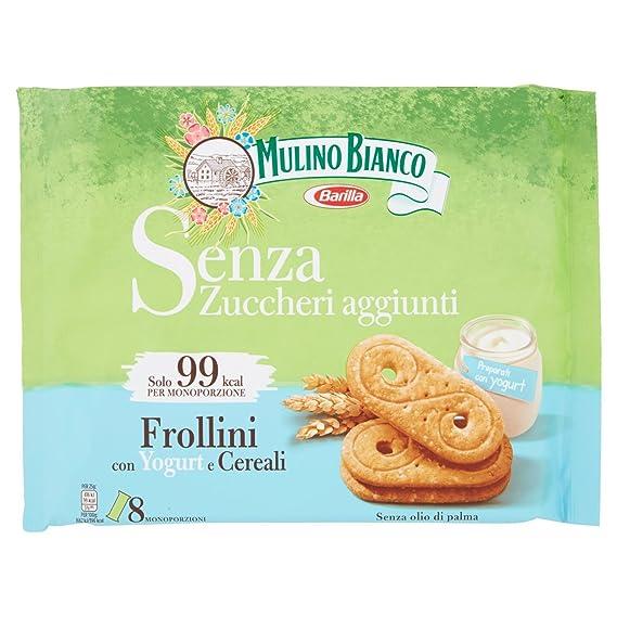 Mulino Bianco Biscotti Frollini senza zuccheri aggiunti con Yogurt e  Cereali, 200 gr Amazon.it Alimentari e cura della casa