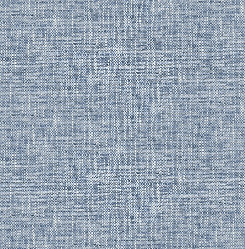 NuWallpaper NU2918 Navy Poplin Texture Peel & Stick Wallpaper