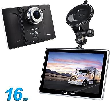 AZGIANT 7 Pulgadas GPS Navegador para Coche Camión con Completo UE Mapas Descargar,DVR Tableta con Pantalla Táctil Capacitiva,Actualización Gratis de Mapa,Android 16GB: Amazon.es: Electrónica