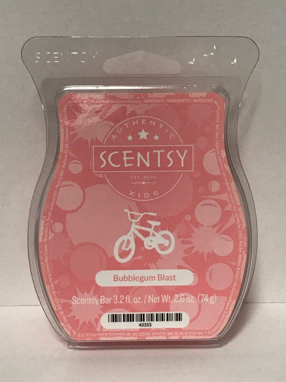 Bubblegum Blast Scentsy Bar Wickless Candle Tart Wax 3.2 Fl Oz, 8 Squares