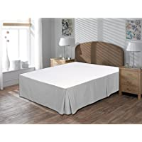 """Vivacious Collection Hotel Quality 800TC Split Corner Bed Skirt 18"""" Drop Length 100% Egyptian Cotton Bedskirt Queen Size White Solid"""