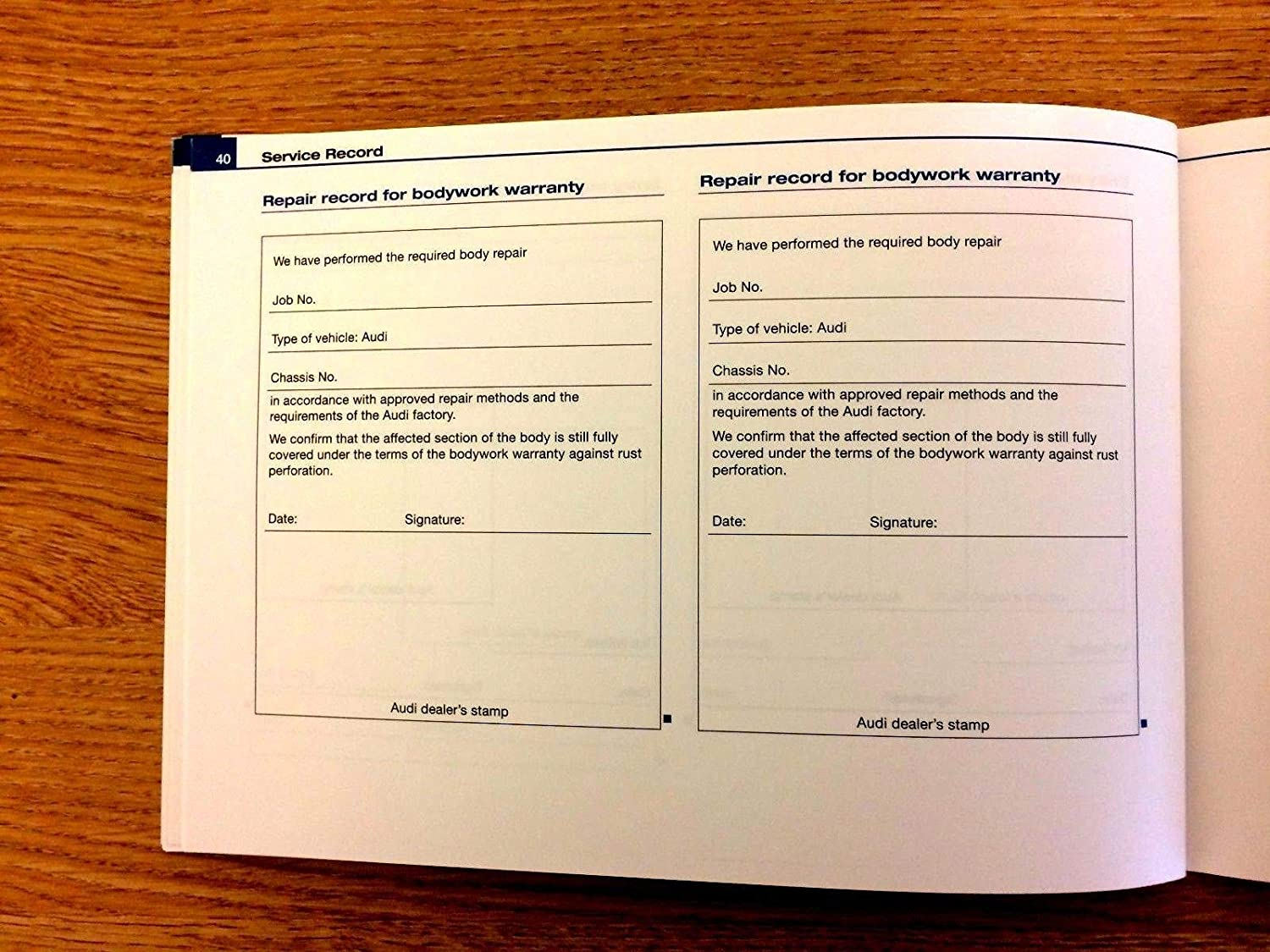 Service Book Car History Maintenance Handbook Blank Manual Booklet Replacement A