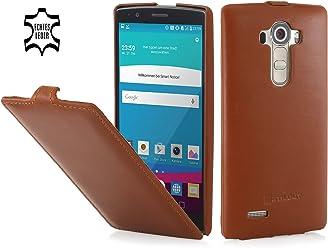 StilGut UltraSlim Case, custodia in pelle per LG G4, cognac