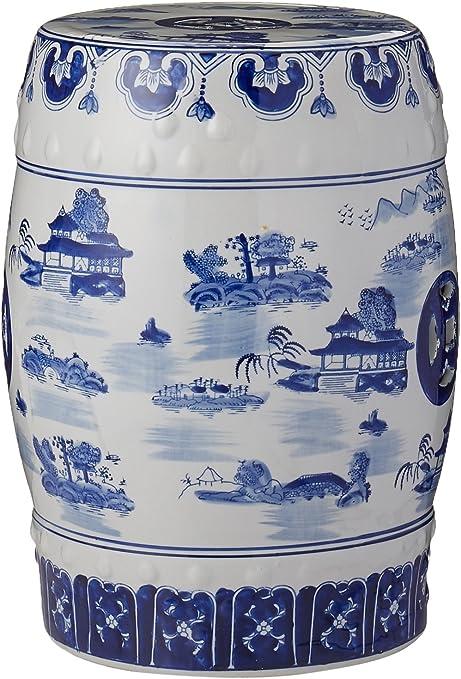Cobalt Blue Chinese Porcelain Handmade Garden Stool