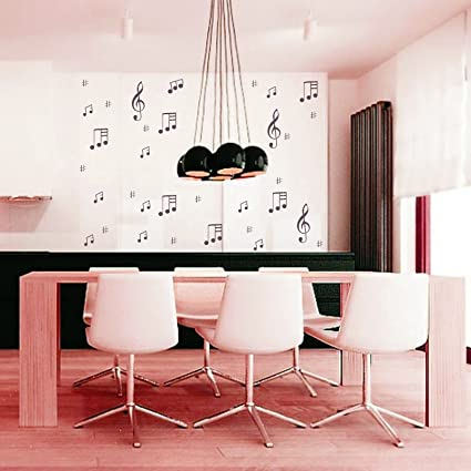 Kayra Decor Musical Notes Reusable Wall Stencil for Wall Decor/DIY Painting Stencil/Durable Than Wall Stickers in (16 X 24) Inches (Plastic Sheet), Clear