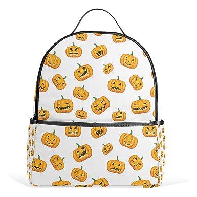 JSTEL Halloween Pumpkin Emoji School Backpack 4th 5th 6th Grade for Boys  Teen Girls Kids 0fc7a9e7b8d72