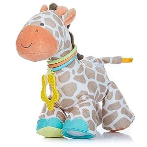Developmental Giraffe Rattle Clip for Babies