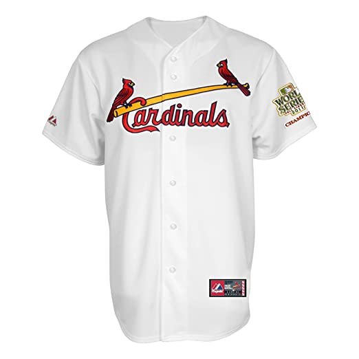 d8c3a87a856 MLB Boys' St. Louis Cardinals Jersey with 2011 World Series Champions Patch  (Scoured