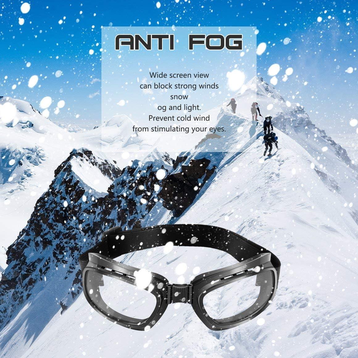 Gafas Plegables de la Motocicleta de la Vendimia Gafas a Prueba de Viento Gafas de esqu/í Snowboard Gafas de Carreras Off Road Gafas Gafas a Prueba de Polvo Paperllong/®