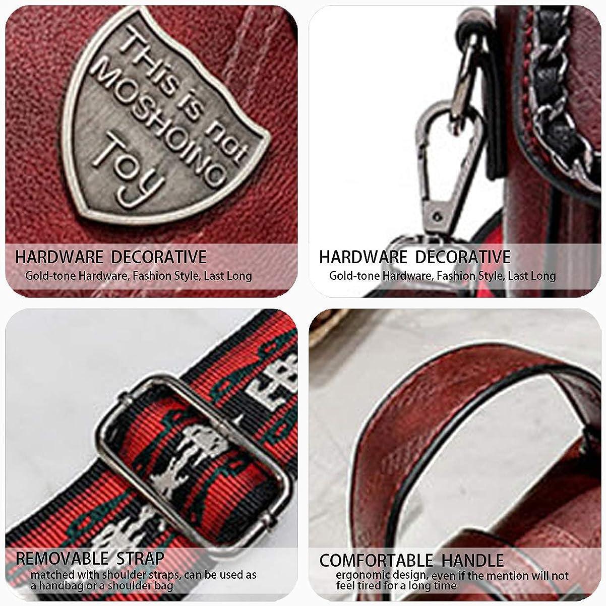DEERWORD Womens Top-Handle Bags Handbags Hobos Shoulder Bags PU Leather Convertible