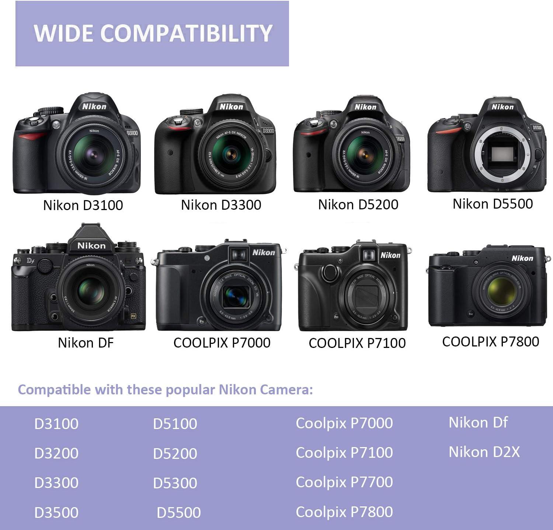 PHOTO MASTER 2X EN-EL14/EN-EL14a Batería Reemplazo (1200mAh) y LCD ...
