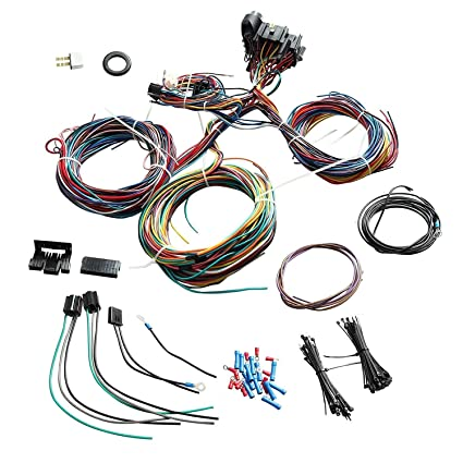yjracing universal 21 circuit wiring harness kit fit for chevy mopar ford  hotrod, lighting & electrical - amazon canada