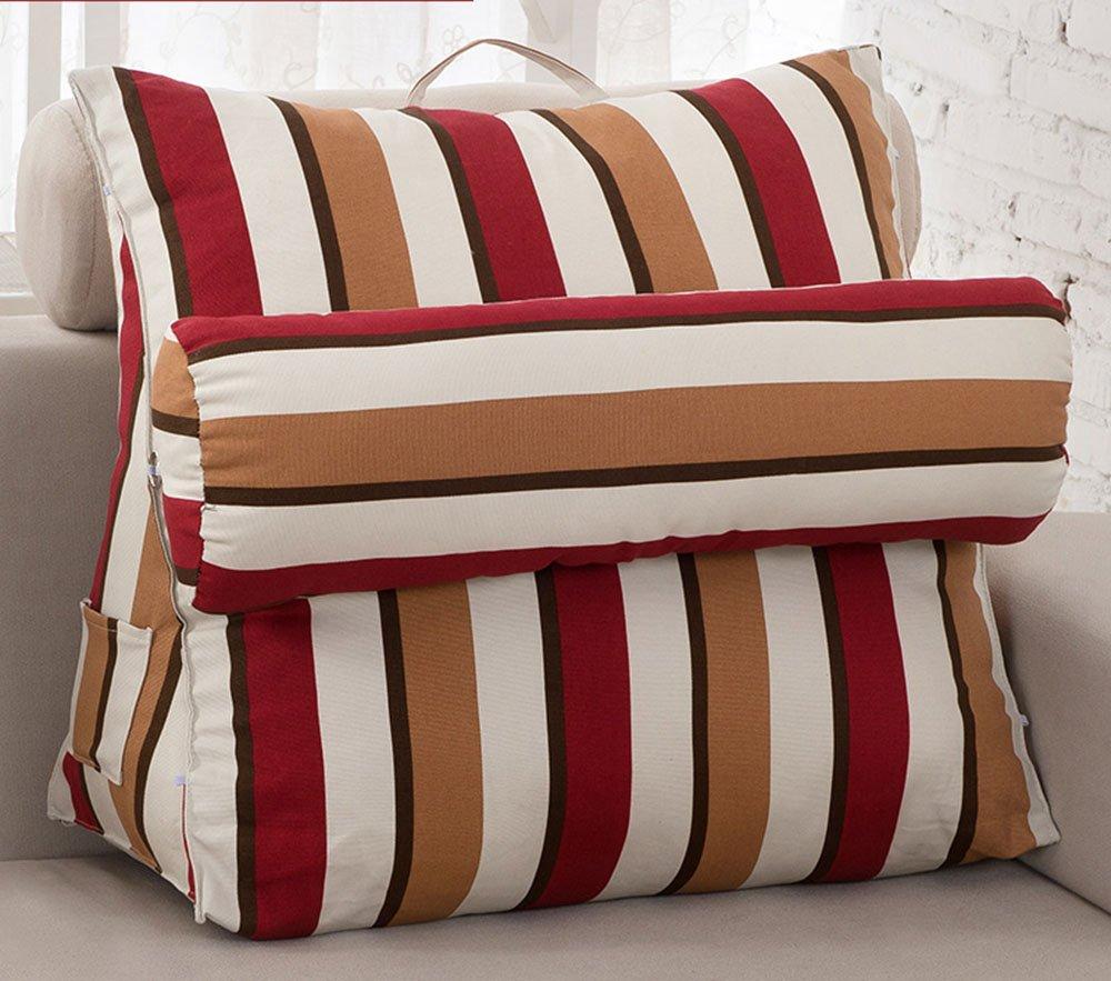 Pillow pillow Triangolare Cuscino di Base della Tela di Canapa Grande Ammortizzatore per l'inclinzione su di Adattamento (Colore : 1#, Dimensioni : 38 * 43 * 20cm) dongyunhaishop