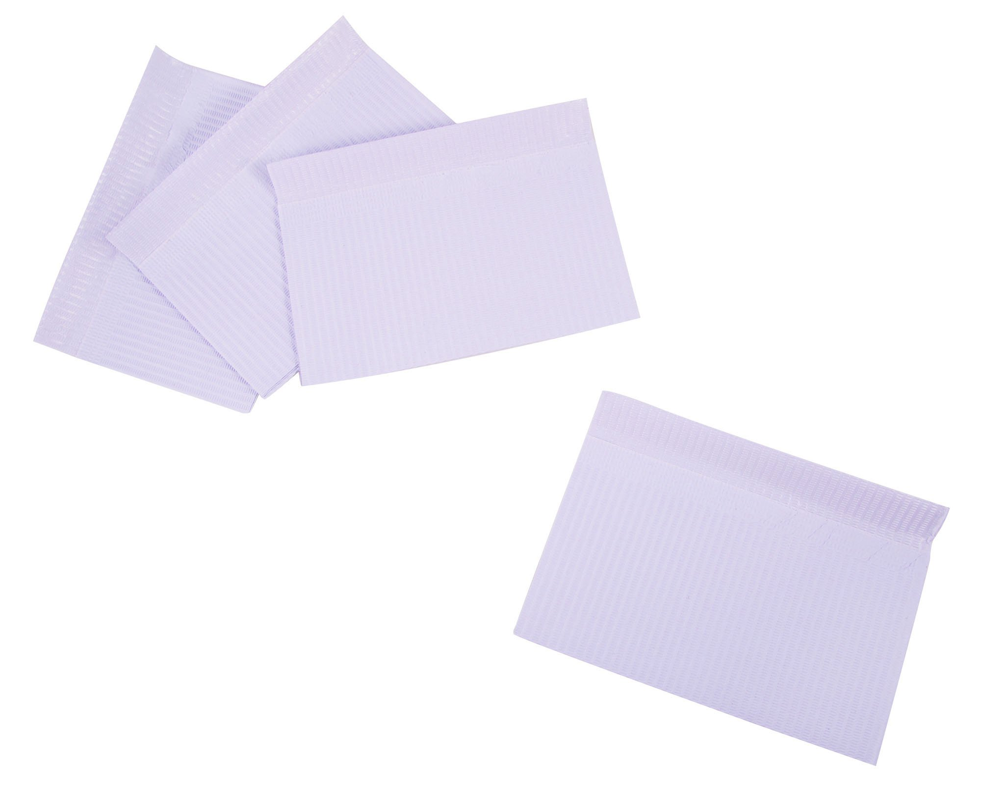 Primo Dental Products PBLV Patient Bib, 2-ply with Poly, 13'' x 18'', Lavender (Pack of 500)