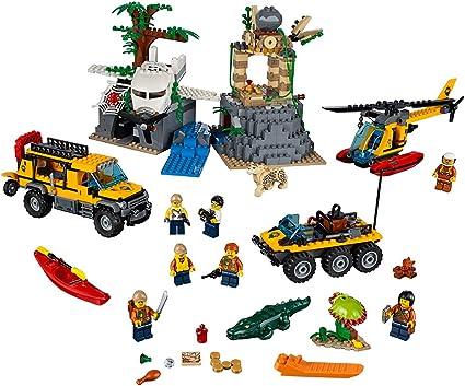 Amazon Com Lego City Explorers Jungle Exploration Site Building Kit 60161 813 Pieces Toys Games