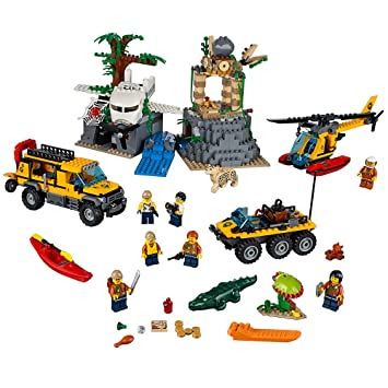 Amazon Com Lego City Explorers Jungle Exploration Site Building Kit
