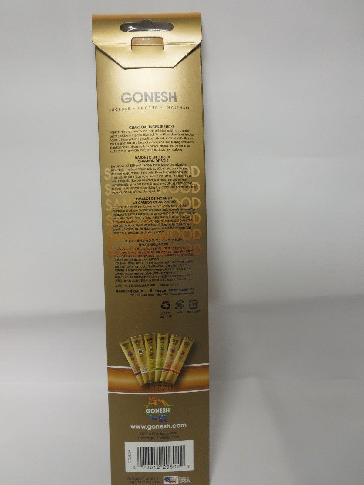 Gonesh Incense Sticks Extra Rich Collection - Sandalwood (240Sticks) by Gonesh (Image #1)