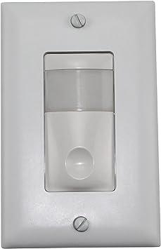 Wattstopper As 100 Push Button Automatic Control Occupancy Sensor Wall Switch 120 277 60hz White Amazon Com