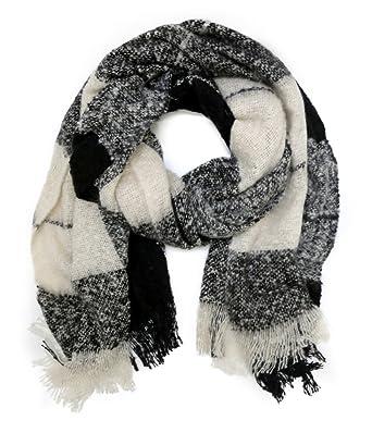 accessu® Grand Châle Oversize Echarpe Foulard pour Femme Automne Hiver -  Melange Check Design 522fc7a9863
