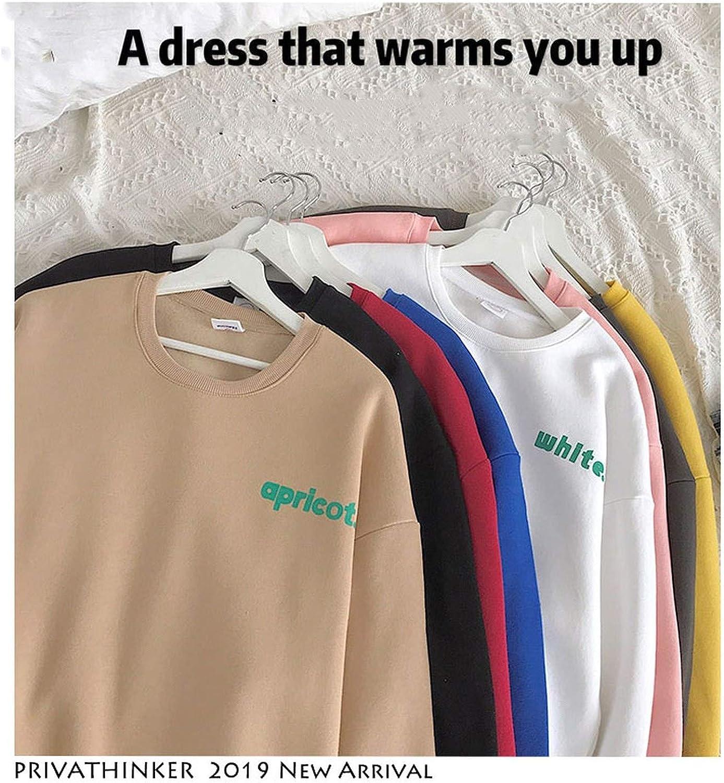Lu Studio Men Casual Solid Letter Sweatshirt Without Hoodie Autumn Sporting Streetwear Sweatshirt