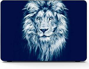 """MacBook Air Case Portrait Beautiful Lion Lion Dark Oil Suitable for Air 13""""(Old Version & New 2017 Ver) Case,A1369/A1466"""