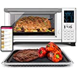 NuWave Bravo XL Convection Air Fryer Oven Grill 30-Quart 10-in-1; Temperature Probe; Grill/Griddle w Stainless Steel Rack; 60