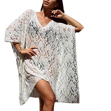 558d77a301 HOMEBABY Women Beach Cover Up - Ladies Lace Long Suit Bikini Swimwear Beach  Swimsuit Smock Holiday Cover UPS Summer Cardigan: Amazon.co.uk: Clothing