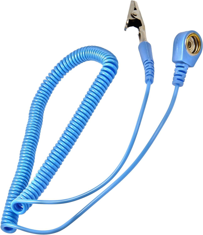 z.B Minadax/® XXL 60 x 80cm Antistatikmatte in Blau Fuer Arbeiten am PC-Tower 4 Anschluesse ESD Armband und Erdungskabel
