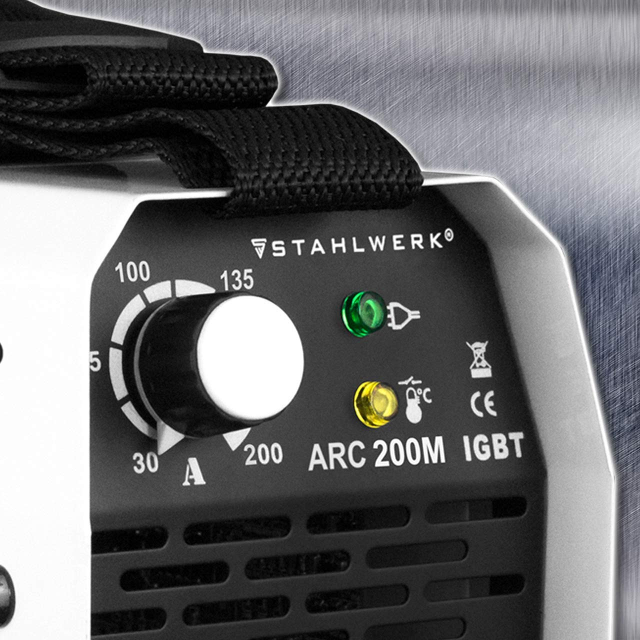 Arc de acero 200 m IGBT - sudor dispositivo DC MMA/S de mano Welder con 200 amperios Reales muy compacto, color blanco, 5 años de garantía del fabricante: ...
