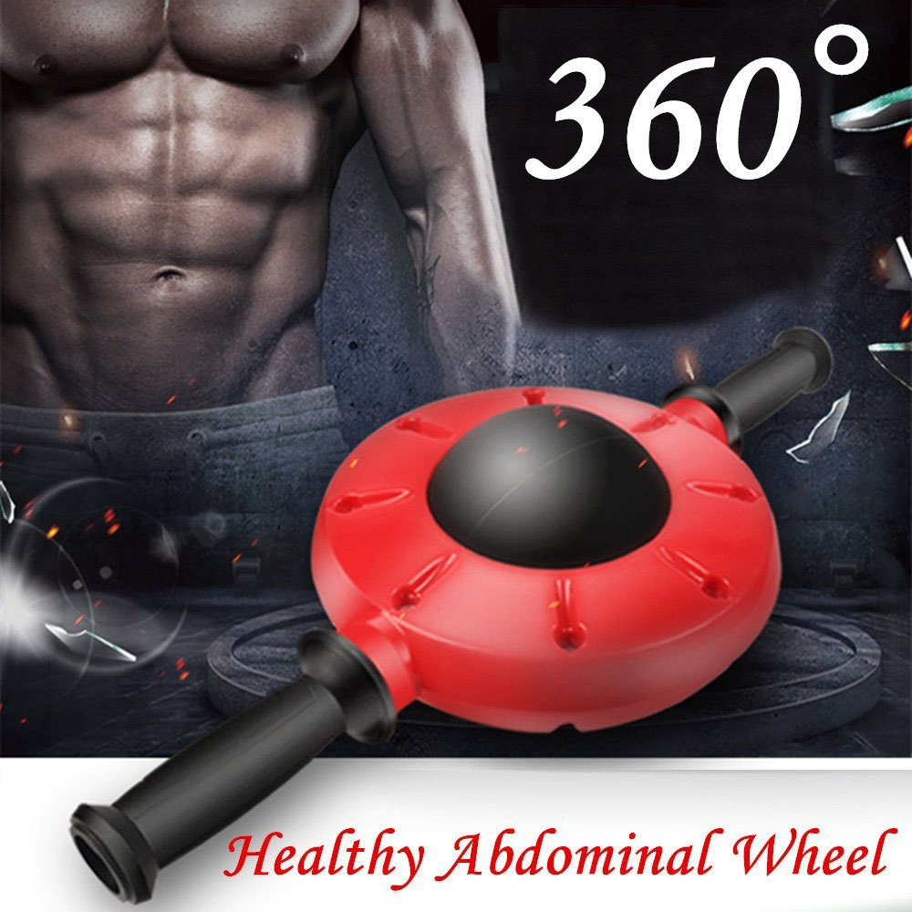 BELONG 360 Degrees All-Dimensional Abdominal Wheel No Noise Ab Roller Muscle Trainer Fitness Equipment Non-Slip Workout Body Massager