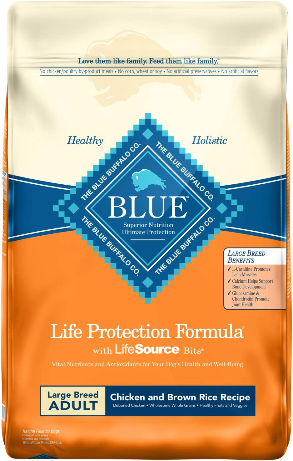 Blue Buffalo Life Protection Formula Large Breed Dog Food – Natural Dry Dog Food for Adult Dogs