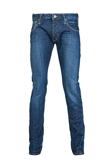 f397cf80 Armani Jeans Men Slim Jeans 6Y6J20 6D31Z Size 38/34 Blue: Amazon.co ...
