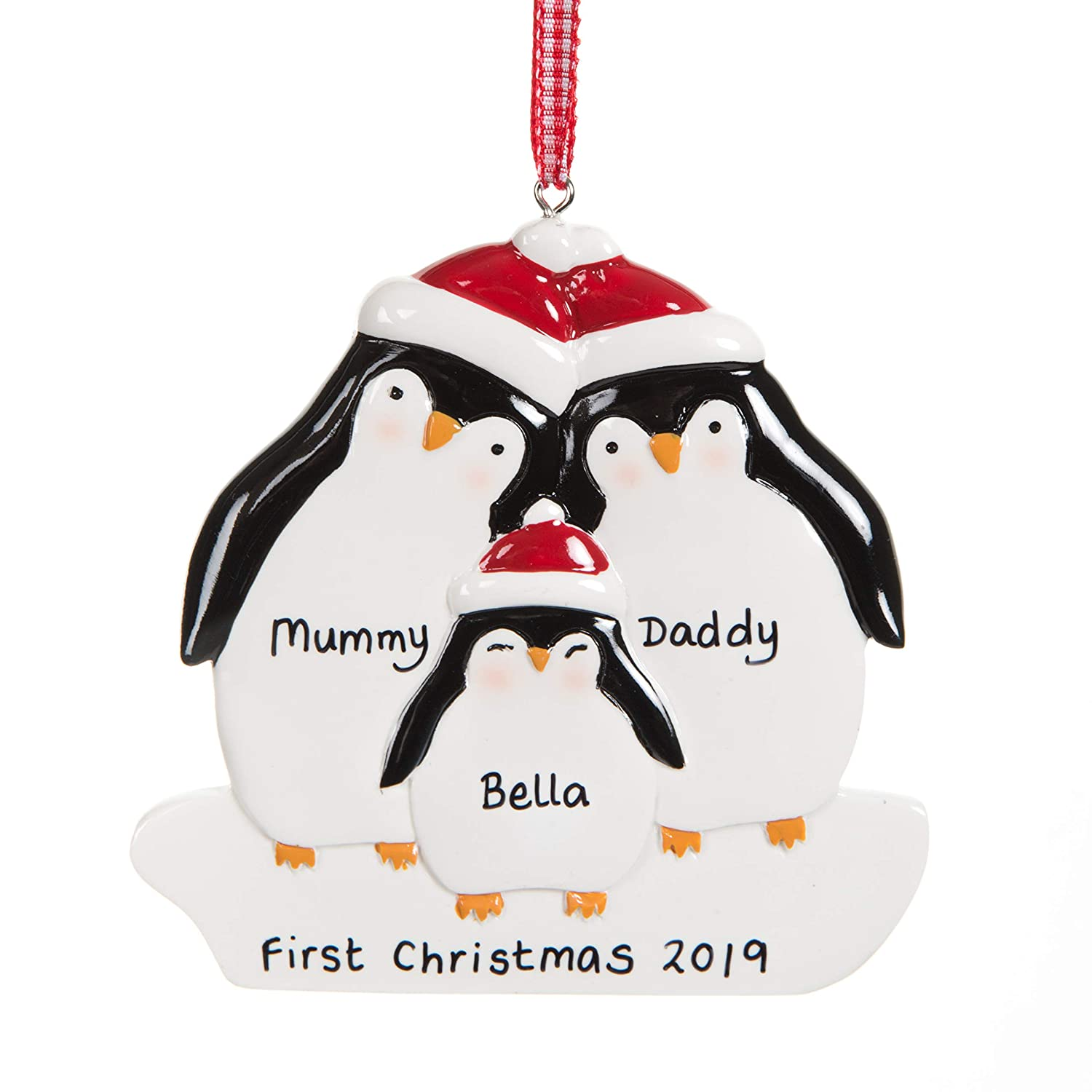 Personalised Christmas Decoration Family S First Decoration My 1st Xmas Decoration Baby Gift Ornament