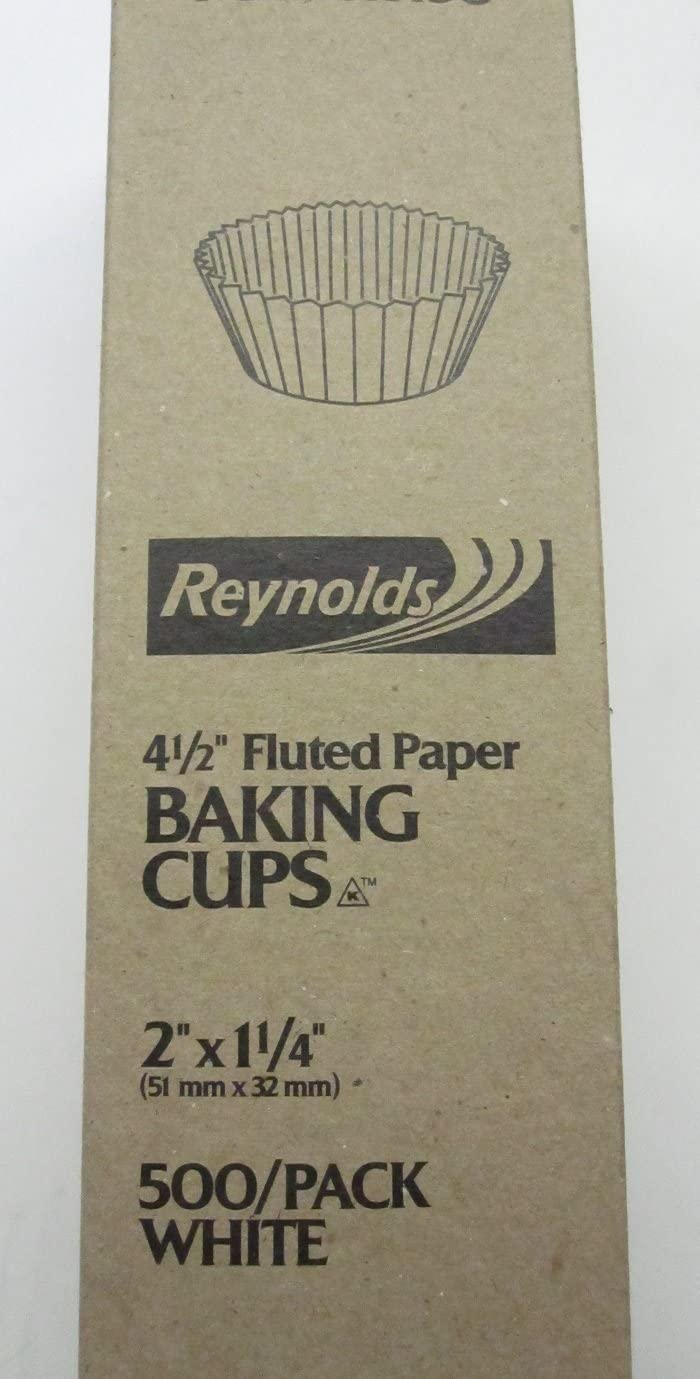 500 pcs - White Paper Cupcake Cup Liners - STANDARD Size