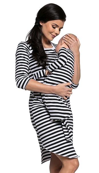 Camisón premamá algodón de embarazo lactancia para mamá y bebé. 018p (