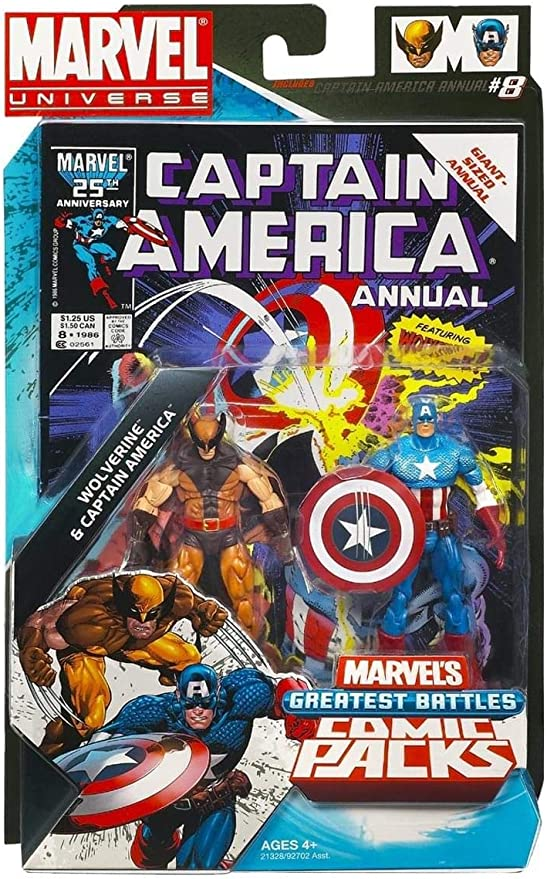 Marvel Universe Greatest Battles Comic Packs Wolverine & Captain ...