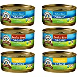 Newman's Own Organic Cat Food 3 Flavor 6 Can Bundle, 2 each: Turkey Dinner, Beef & Liver, Turkey Liver Dinner (5.5 Ounces)