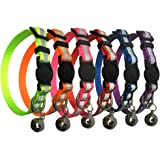 Reflective Cat Collar with Bell Cat Collars for Dog Puppy Kitten Nylon Collars(6 pack)