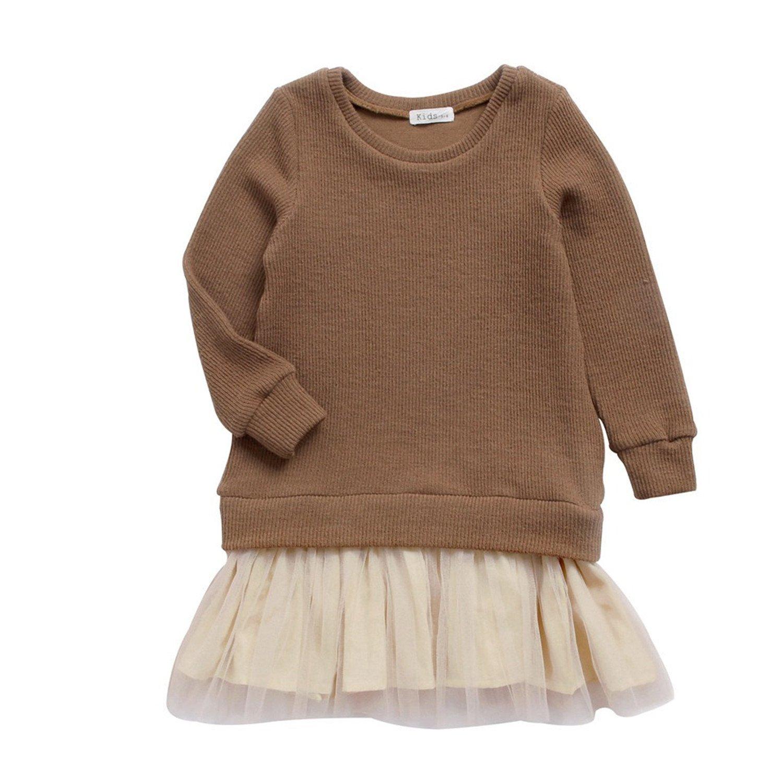 b0ad4c5c Amazon.com: Meetloveyou Winter Girl Dress Princess Kids Clothes For ...