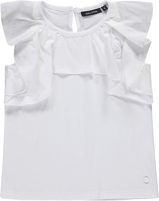 Marc O Polo Kids T-Shirt M. Volant Camiseta, Blanco (Bright White ...